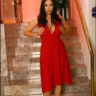 {jelenajensen} Jelena Jensen In A Red Polka Dot Dress