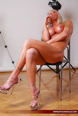 Krisztina Sereny Takes Naked Smoke Break