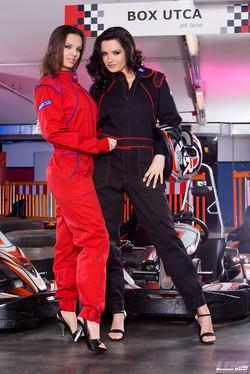 Sandra Shine and Eve Angel Go-Kart Lovers