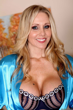 Blonde MILF Julia Ann in Lingerie and Satin