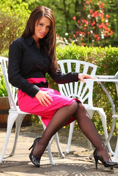 Gemma Massey Striptease in Stockings