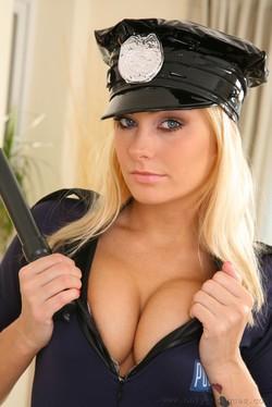Natasha Marley Hot Policewoman Strips to her Pantyhose