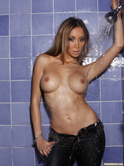 Katsuni Gets Her Busty Asian Body Wet in the Shower