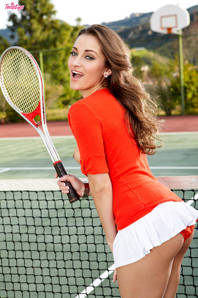 Dani Daniels Naked and Naughty on the Tennis Court