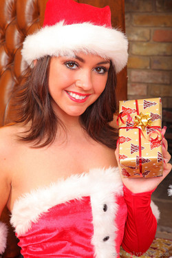 Bryoni Kate A Young Ms. Claus Sexy in Stockings