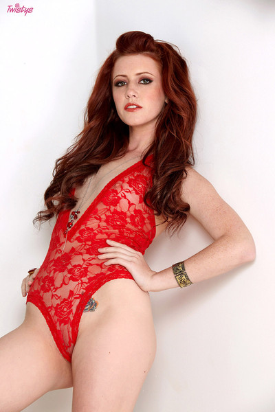 Elle Alexandra High Heeled Hottie in Red Lace Lingerie