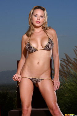 Brea Lynn Boasts Awesome Bikini Curves in Spotted Two-Piece
