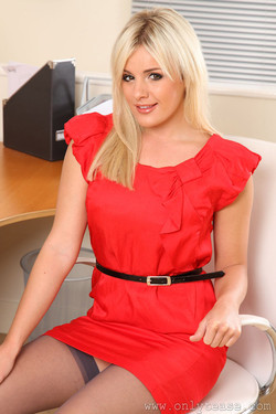 Amy Green A Simply Smashing Secretary in Red Lace Lingerie