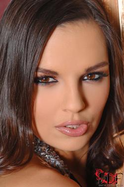 Eve Angel Hungarian Pornstar Strips Off Long Black Dress