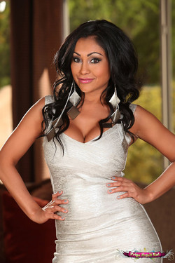 Priya Rai Stacked Indian MILF Busts Out of Tight Dress