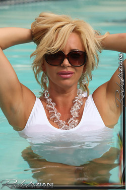 Rachel Aziani Dark Glasses and Very Big Boobs