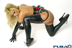 Shyla Stylez Big Boobed MILF in Bound in Ropes and Latex Boots