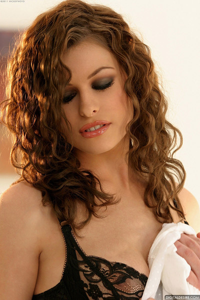 Ginger Jolie Steamy Redhead Squeezes Soft Natural Breasts