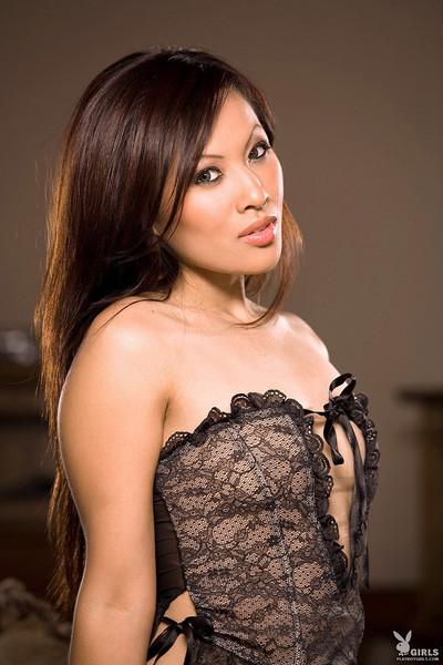Marie Nguyen Sexy Vietnamese Vixen Drops Lace Lingerie