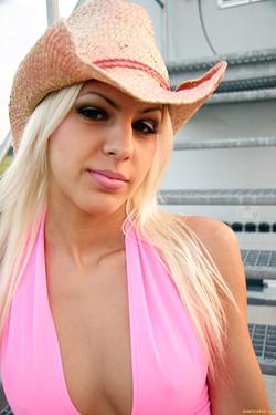 Boroka Borres Hot Hungarian Blonde Bares Booty