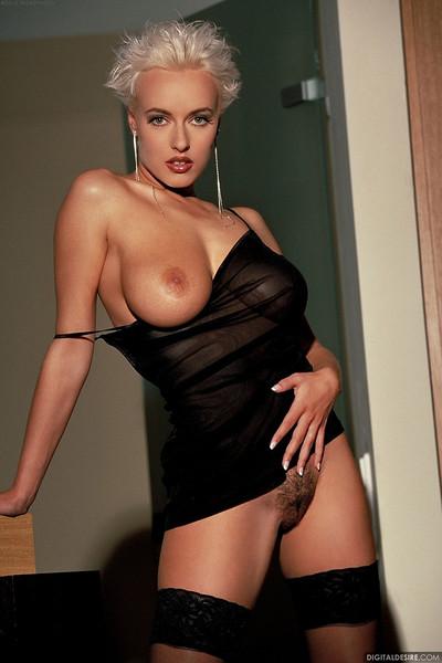 Tara Radovic Sexy European Hottie in Sheer Black Stockings