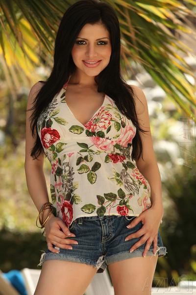 Sativa Rose Latina Temptress Drops Shorts Showing Sexy Curves