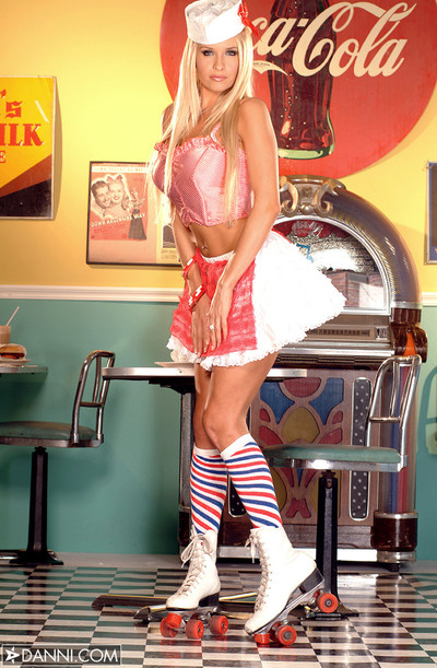 Angel Cassidy Dishes Up Busty Bod in Soda Shop