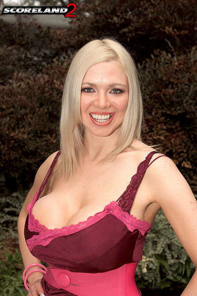 Kylee Nash Whopping Big Breasts in Red Lace