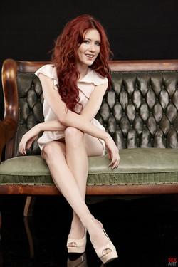 Elle Alexandra Vibrant Redhead Naked in the Dark