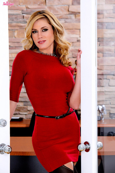 Randy Moore D-Cup Bombshell in Red High Heels