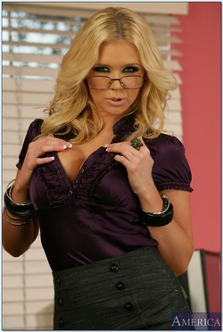 Dylan Riley Hot Secretary Bares Busty Curves at the Office