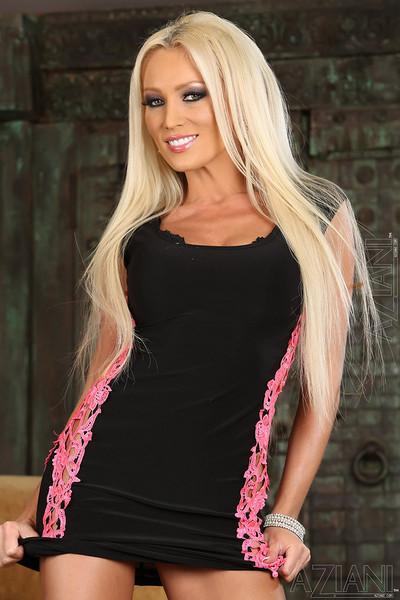 Diana Doll Hot Blonde Euro MILF Loses Minidress