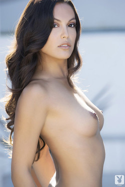 Raquel Pomplun 2013 Playmate of the Year Nude in the Pool
