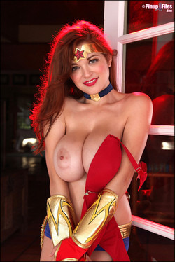 Tessa Fowler is a Big Boob Superhero for Halloween