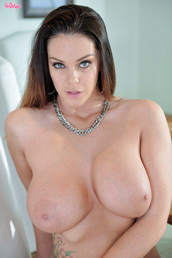 Alison Tyler Brunette Bombshell Flaunts Big D-Cup Breasts