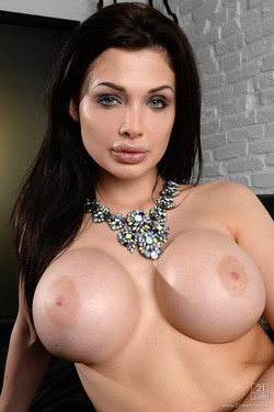 Aletta Ocean Loses Lacy Lingerie and Flashes Huge Boobs