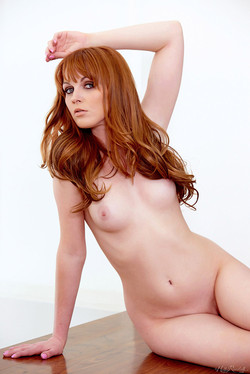 Marie McCray Fair-Skinned Redhead Loses Lacy Lingerie