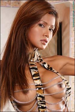 Thitima Charoenmak Buxom Thai Princess in Jungle Straps