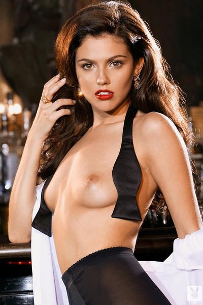 Val Keil Sultry Brunette Playmate Bar Room Seduction