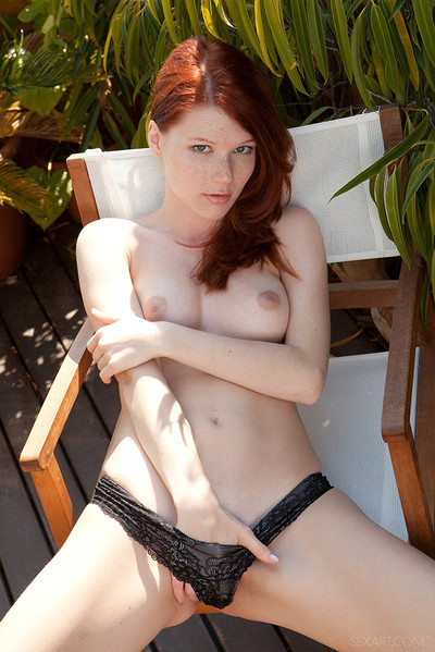 Mia Sollis Lovely Redhead Enjoys her Coffee and Natural Body