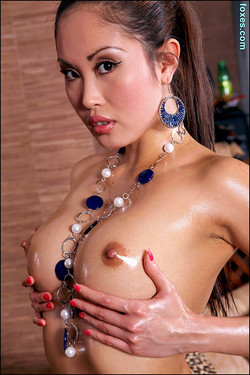 Davon Kim Busty Filipina Wearing a Necklace and Nothing Else