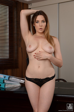 Samantha Bentley Sexy Exec Office Striptease