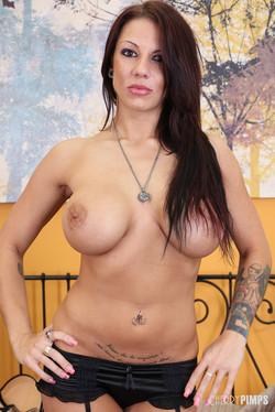 Lylith Lavey Brunette Pornstar Flaunts Huge 38DDs