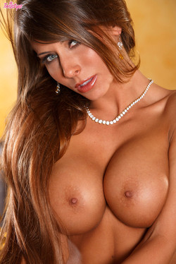 Madison Ivy Big Boob Blonde Dazzles in Gold Dress Striptease