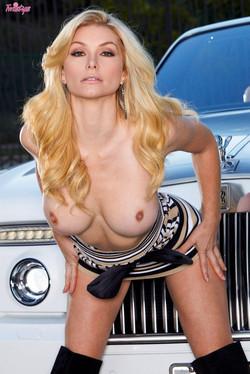Heather Vandeven Bares Million Dollar Boobs with Rolls Royce