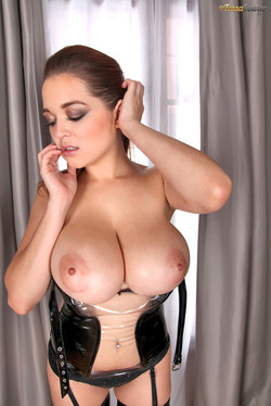 Tessa Fowler Latex Clad Dominatrix with Huge Boobs