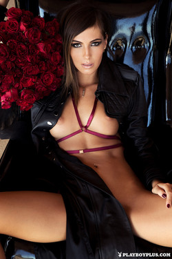 Brittny Ward January Playmate A Beauty Among Roses