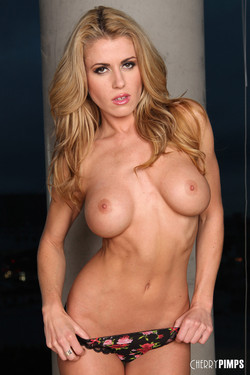 Randy Moore California Blonde Bares Buff Busty Body