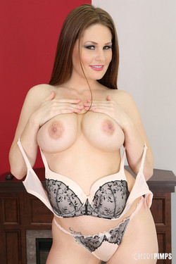 Allison Moore Soft and Curvy Redhead Drops Bra and Panties