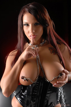 Lylith Lavey Busty Pornstar in Chains and Nipple Clamps