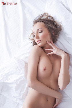 Katya Mitchell Russian Blonde Naked on Hotel Sheets