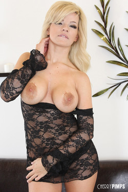 Adriana Sephora Busty Blonde Loses See-Through Lingerie