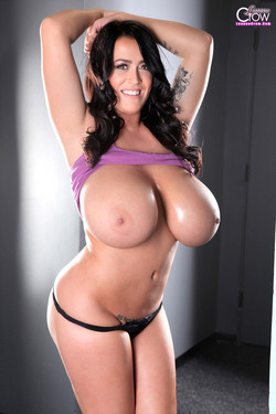 Leanne Crow Frees Whopping HH Boobs from Purple Tank Top