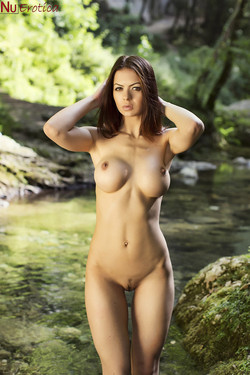 Nicole Mendez Busty Romanian Vixen Naked in Nature
