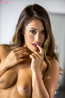 Eva Lovia Naughty Brunette Engages on Phone and Computer Sex